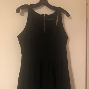 Cynthia rowley  black fit and flare racer back